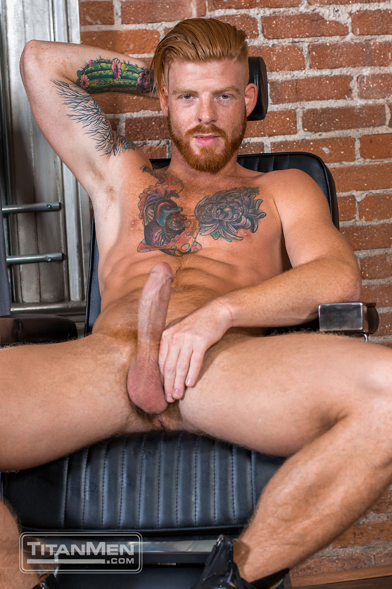 Sexy Freckled Ginger Bennett Anthony Is Touched By Fire
