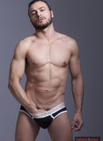 gay porn star Gabriel Vanderloo photographed by Mano Martinez solo