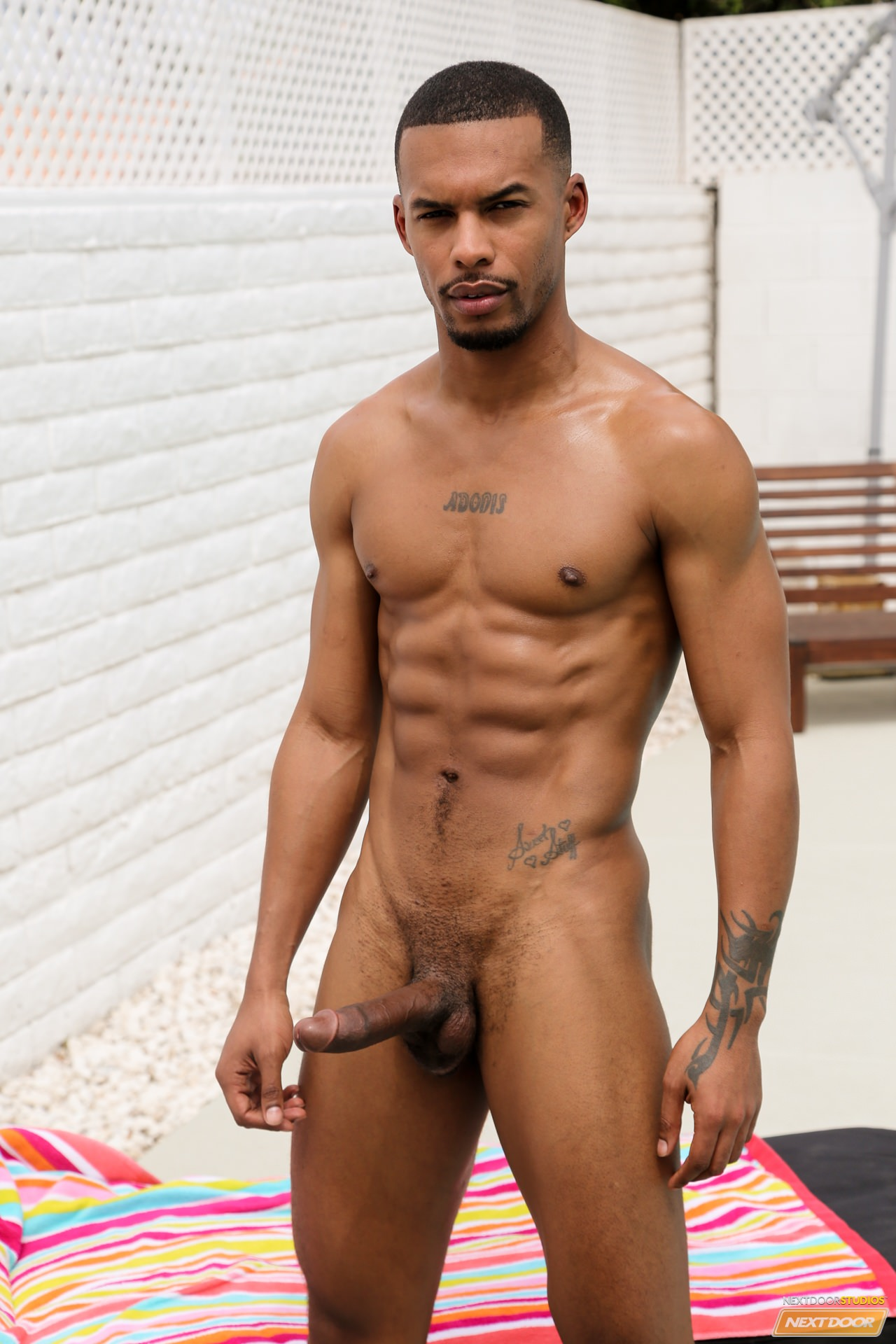 naked handsome black guy