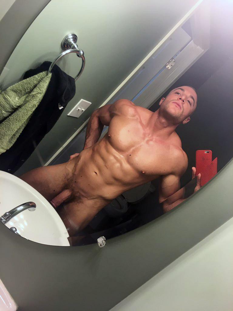 guy selfie naked bathroom