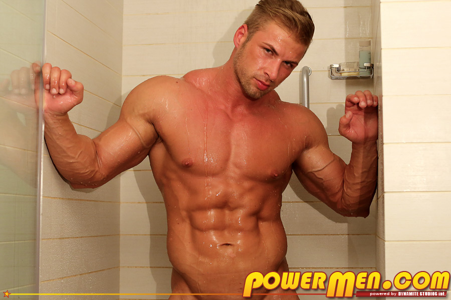 Nude hunk blonde muscle