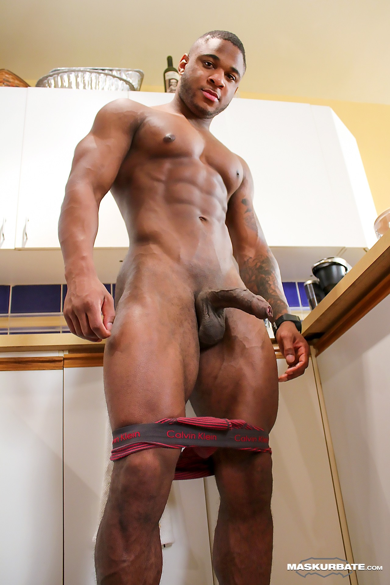 black gay Hairy men hung