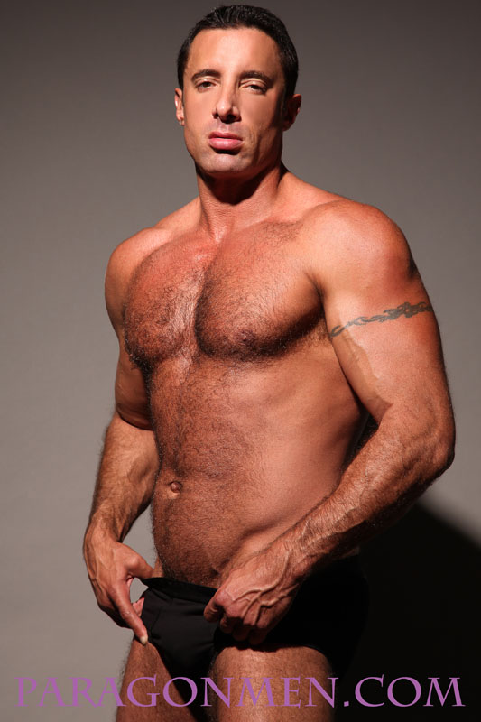 Amazing hairy muscled gay porn stars public