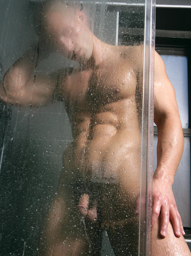 Naked male models in the shower — img 15