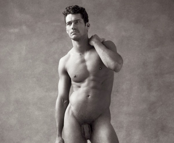 male model David Gandy book penis nude naked full frontal