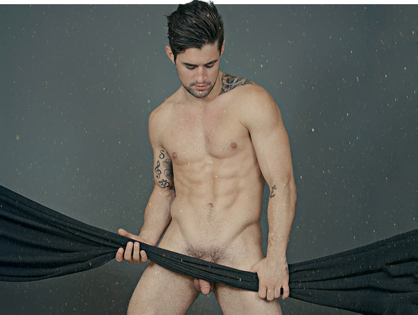 male model Benjamin Godfre full-frontal naked nude