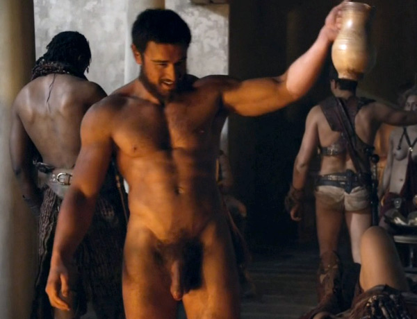 spartacus Totus actor James Wells nude full-frontal