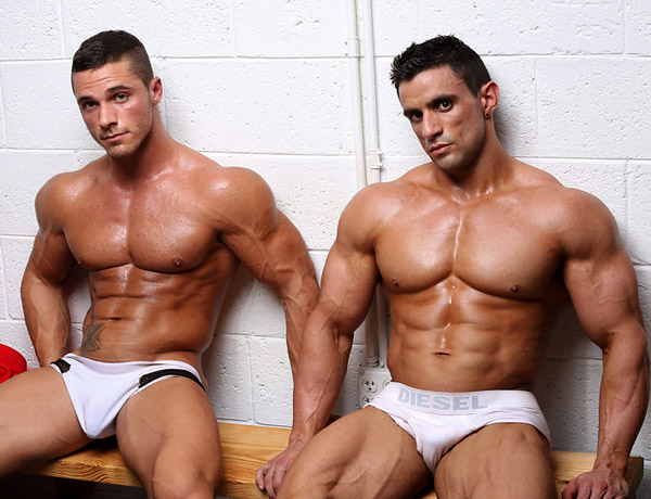 Macho Nacho and Joey Van Damme by MuscleHunks