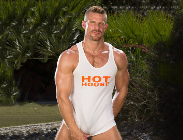gay porn star Landon Conrad at HotHouse