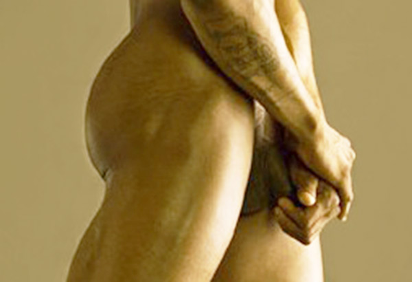 Male model Kurtis Baptiste by David Vance penis full-frontal