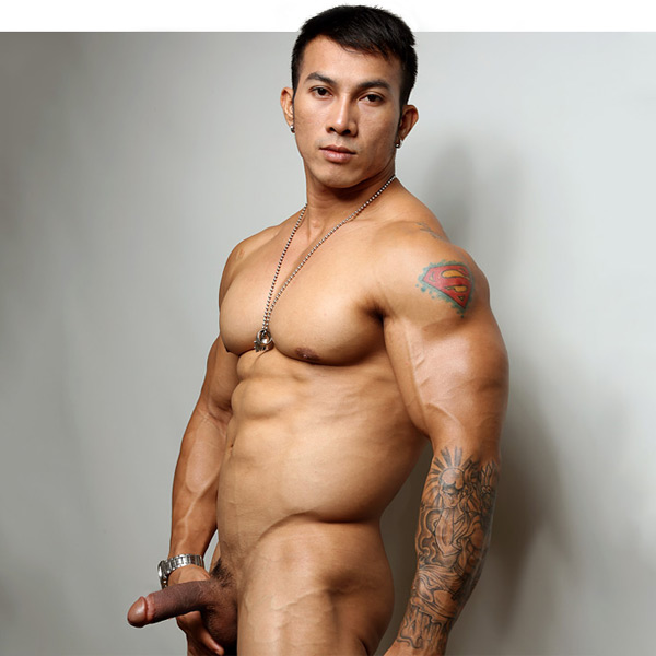 Asian body builder naked