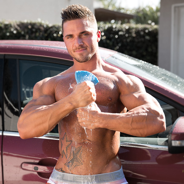 bodybuilder Joey Van Damme nude carwash by JimmyZ