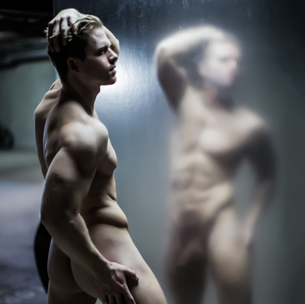 Male art model body nude