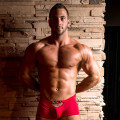 bodybuilder JP strips for JimmyZ in Stockbar