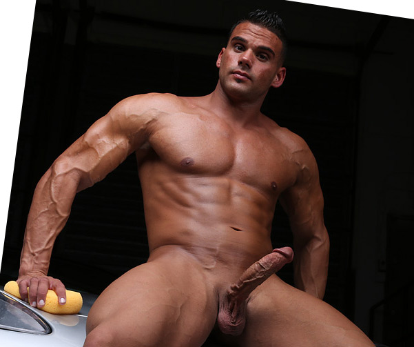 hunks naked Handsome