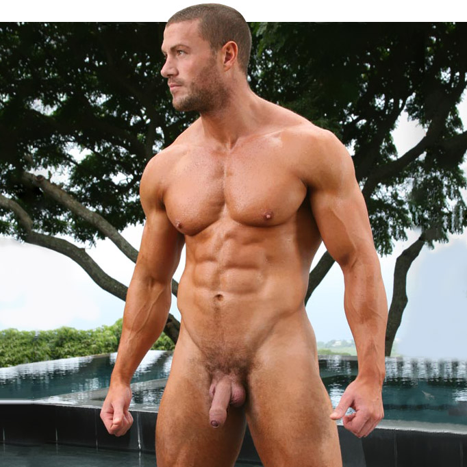 Male fitness model porn