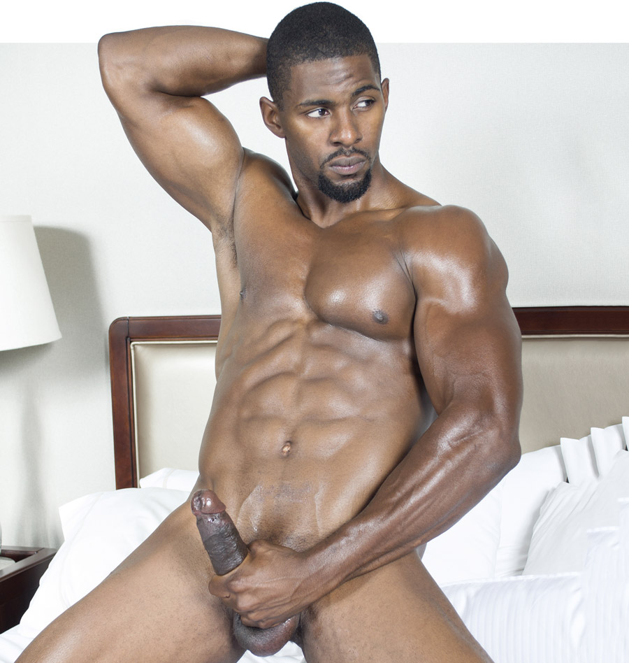 Naked black hunk