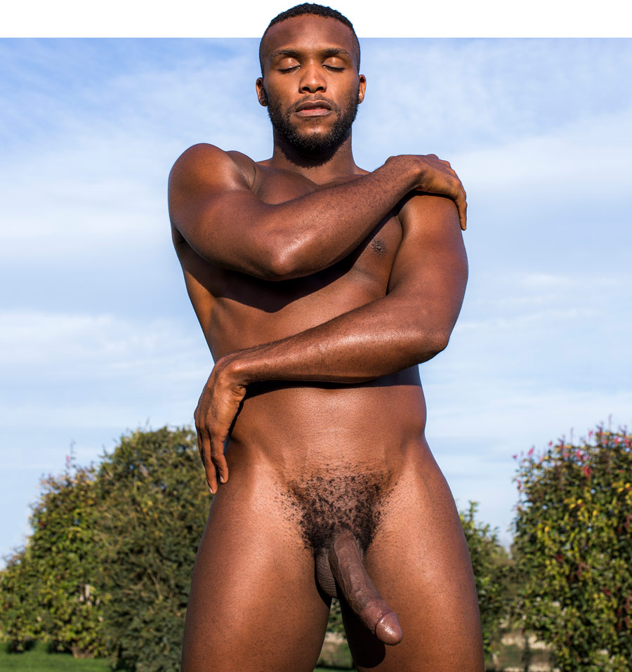 black posing men dick Big