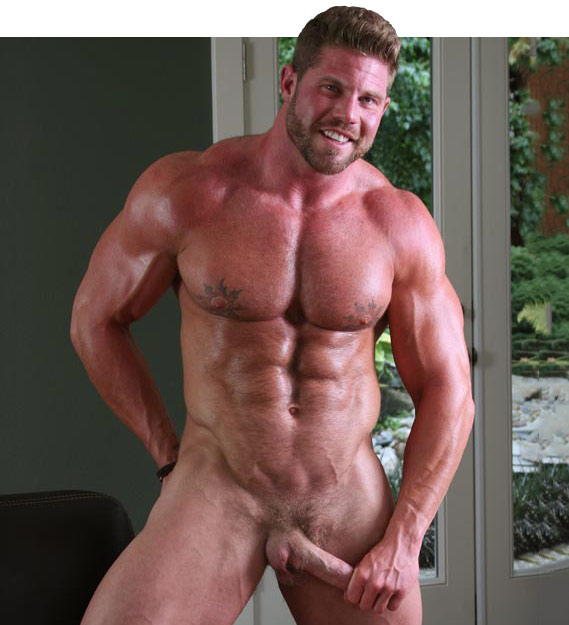 Sexy nude male bodybuilders