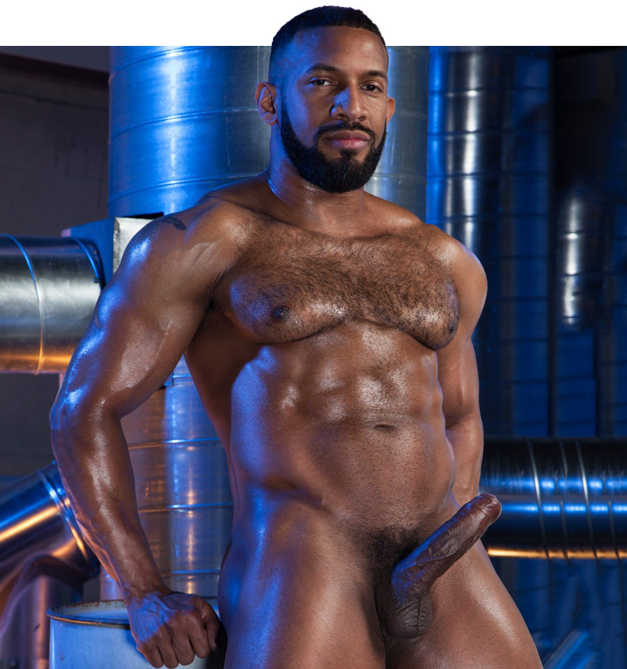 Black muscular naked men