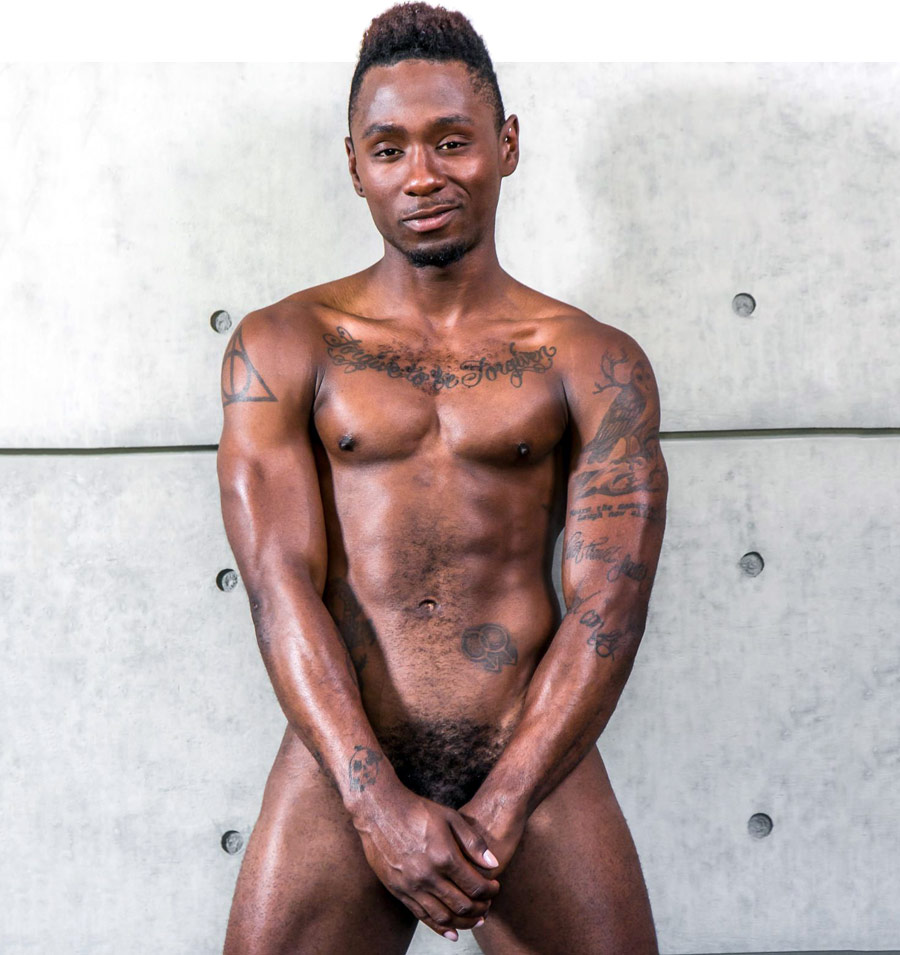 Black men nude Big