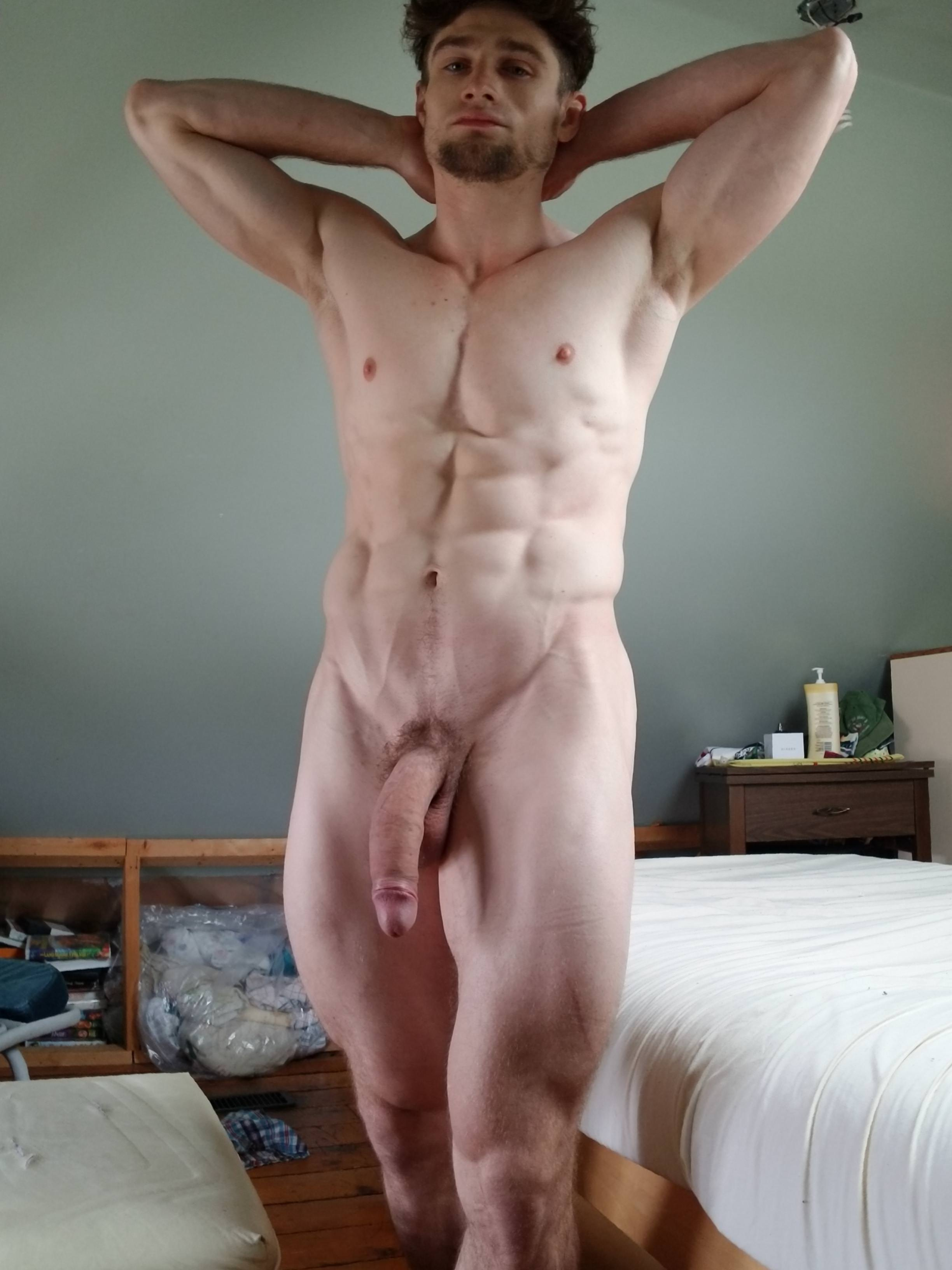 big muscle naked