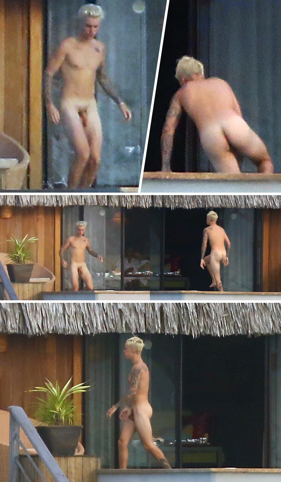 Male celeb caught naked