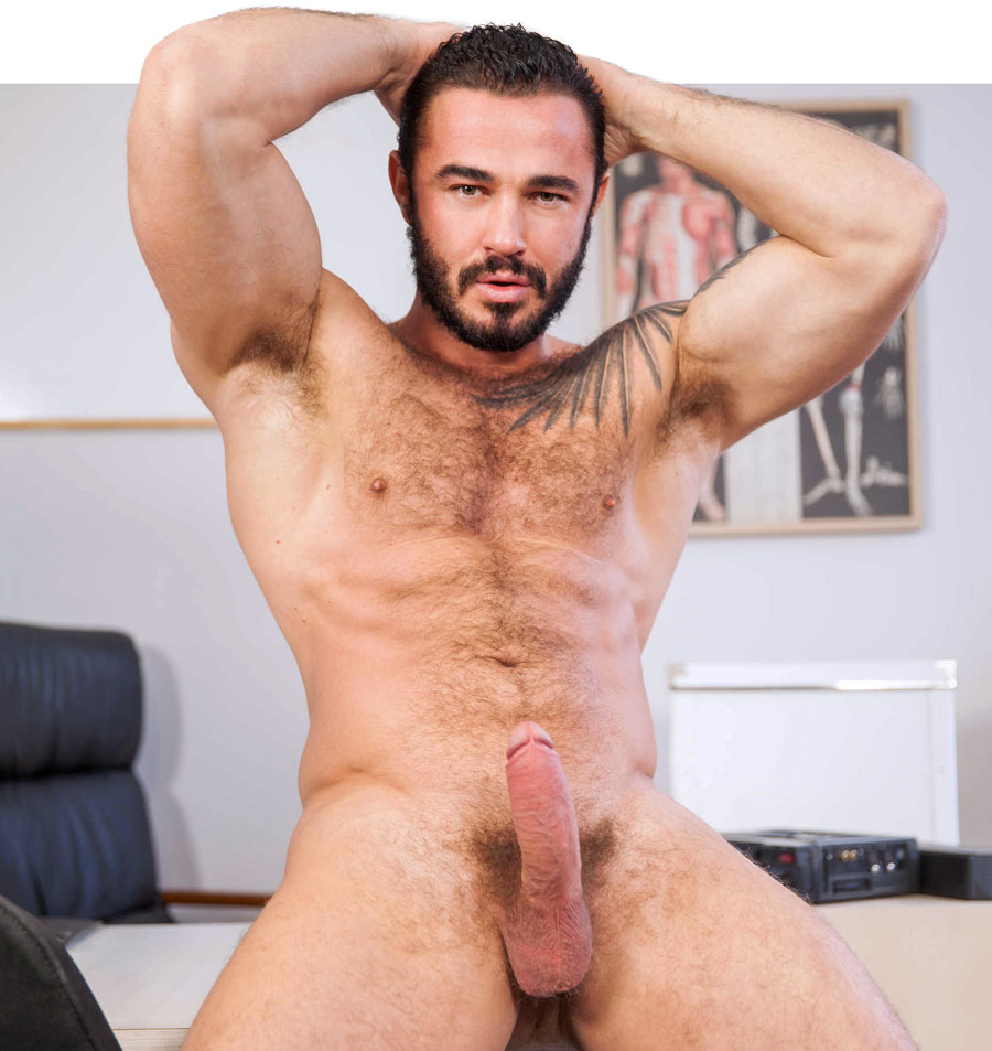 Naked male with dildo